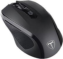 VicTsing Profesional Mouse / Ratón Inalámbrico Ergonómico con Bluetooth ( DPI 800-1200-1600-2000-2400) para Windows, Mac y Linux - Negro