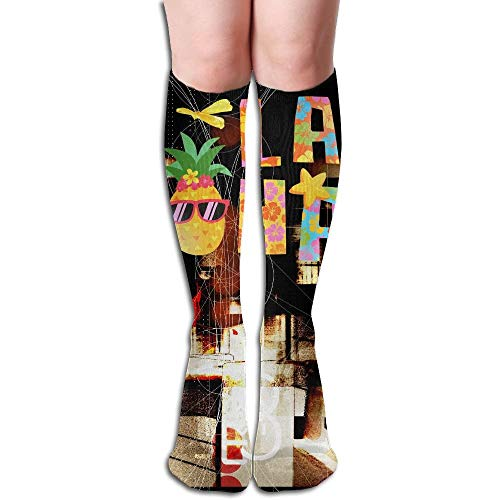 Summer Beach Aloha Hawaii Pineapple 3D Printing Long Socks -