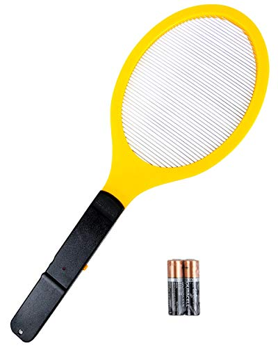 Elucto Large Electric Bug Zapper Fly Swatter Zap Mosquito Best for Indoor and Outdoor Pest Control (2 DURACELL AA Batteries Included) - Zapper Electronic