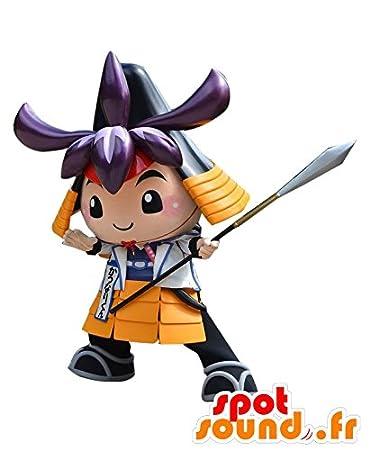 Amazon.com: Mascot Katsunari kun Samurai, en traje de color ...