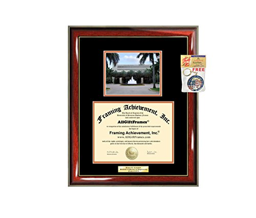 - Diploma Frame University of Miami Graduation Gift Idea Engraved Picture Frames Engraving Degree Graduate Bachelor Masters MBA PHD Doctorate School