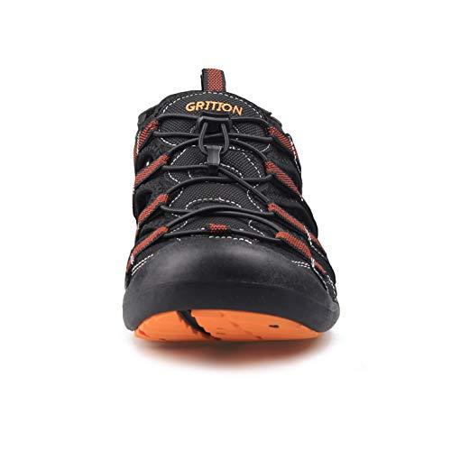 Arancio Nero Scarpe da Grition Outdoor Dry Fast Large Sandali Nero uomo Size Protettiva Tela estive Sportive Verde Escursioni Uf6STfnwq