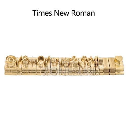 Xennos T-Slot Brass Letters Die Cut Debossed Mold Hot Foil Stamp Copper Alphabet Press Set Customized Font DIY Character Mold - (Color: Symbol TNR) ()