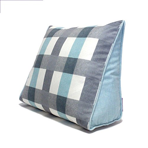 CHSSC Triangular Pillow Bedside Cushions Lumbar Pillow Office Car Cushions Pillow On The Package Birthday Present (Color : D, Size : M)