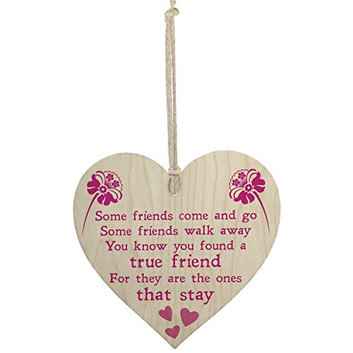 Meijiafei True Friend Poem Friendship Hanging Plaque Love Family Present Sign (True Friendship Poems Best Friends)