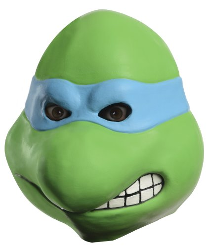 [Nickelodeon Ninja Turtles Adult Leonardo Overhead Latex Mask, Green, One Size] (Adult Ninja Turtle)
