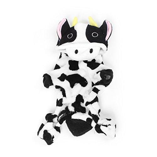 Amazon.com : eDealMax vaca en Forma de la Sudadera Con Capucha perro de mascota Mono Ropa, Medio, Blanco/Negro : Pet Supplies