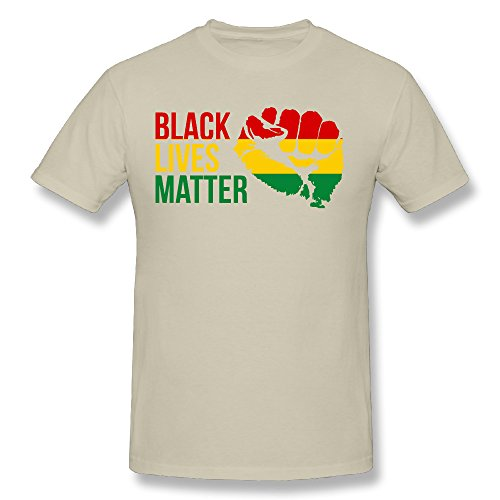 - TTATT Men's Black Lives Matter Crew-neck Casual T Shirt Natural