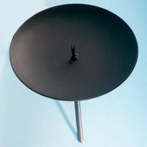 /Ø: 10 cm Advent Metall Liefermenge = 6 Kerzen Halterung Adventskerzenhalter Schwarz Adventskranz Kerzenhalter