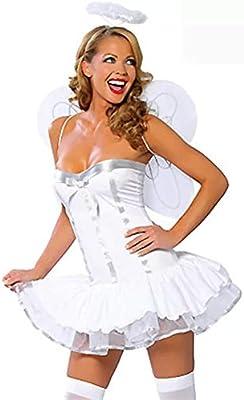 thematys® Disfraz de ángel Blanco Sexy para Mujer Cosplay ...