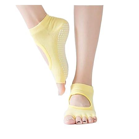 Wenquan,3 pares de calcetines de cinco dedos sin espalda ...