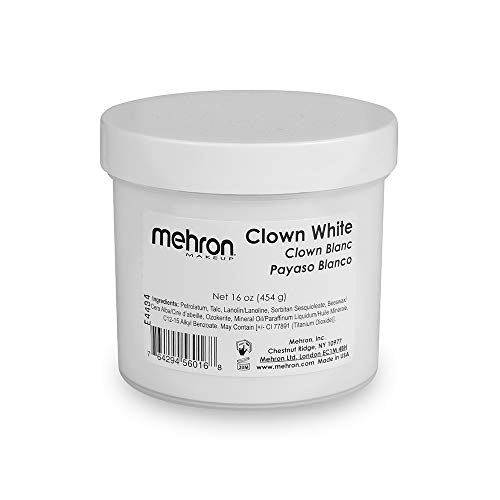 Mehron Makeup Clown White Professional Makeup (16 ounce)]()