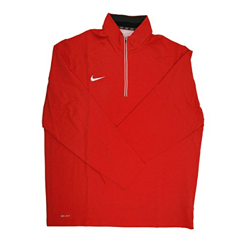 - Nike Dri-FIT Men's Red/White 1/4 Zip Pullover Jacket - 3X Large