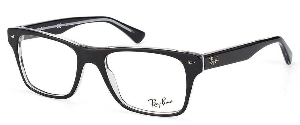 ec5fa27d6a Amazon.com  Ray-Ban Men s RX5308 Eyeglasses Top Black On Transparent 53mm   Shoes