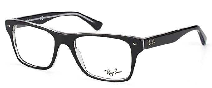 c4be16124c Amazon.com  Ray-Ban Men s RX5308 Eyeglasses Top Black On Transparent ...