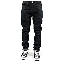 Kaydenk Selvedge Roll up Tapered Fit Men's Raw Denim