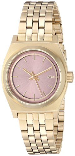 Nixon Women's 'Small Time Teller' Quartz Stainless Steel Watch, Color:Gold-Toned (Model: A3992360-00)