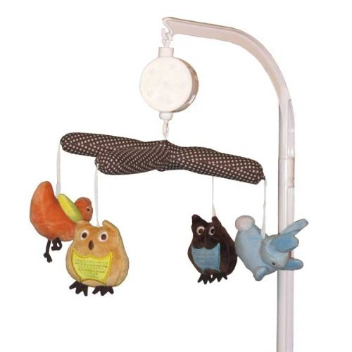 - Kids Line Arbor Friends Plush Nursery Musical Crib Mobile Brown