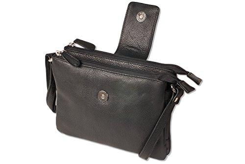 Platino - las señoras de lujo bolsos elaborados con los mejores de clase de ganado de cuero suave en Negro