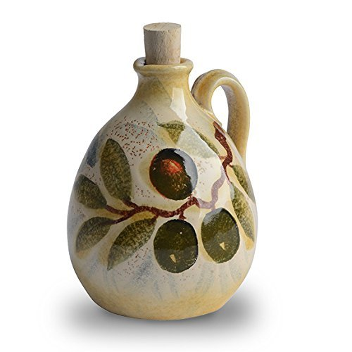 Italian Dinnerware - Small Olive Oil Cruet - Handmade in Italy from our Extra Virgin Collection