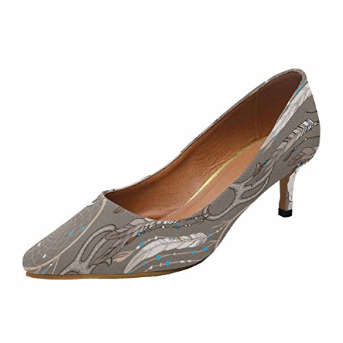 Talon De Chaton Faible Dinterestprint Womens Bout Pointu Robe Pompe Chaussures Crâne De Cerf Avec Dream Catcher Multi 1
