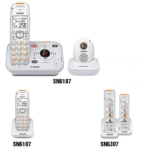VTech SN6187 Cordless Telephone with Base and Pendant + (1) (Additional Pendant)