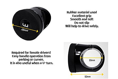 Silicone Flat Compact Safe Slim Power Handle Steering Wheel Spinner Knob for All Car Vehicle AUTOBAN WINE AW-D49