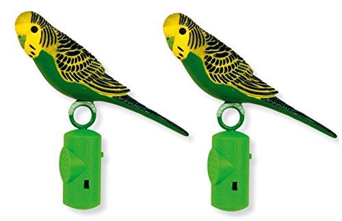 ife-Size Singing Parakeet, Colors May Vary (2 Pack) (Hagen Parakeet)