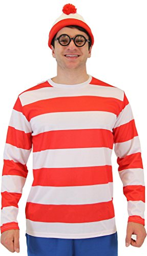 Where's Waldo Official Deluxe Costume Set for Adults - S to 3XL