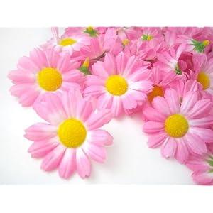"(100) Silk Pink Gerbera Daisy Flower Heads , Gerber Daisies - 1.75"" - Artificial Flowers Heads Fabric Floral Supplies Wholesale Lot for Wedding Flowers Accessories Make Bridal Hair Clips Headbands Dress 3"