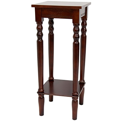 Oriental Furniture 28'' Classic Square Plant Stand - Cherry by ORIENTAL FURNITURE