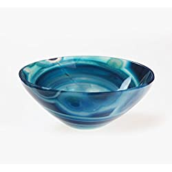 Jet Natural Blue Chalcedony 2 inch Bowl Hand Carved Gemstone Polished Reiki Feng Shui Free 40 Pages Booklet Jet International Crystal Therapy India Pious Drink Water Spices Salt Tray Energy Divine