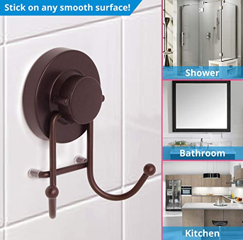 HOME SO Suction Holder Bathroom, Shower & Storage Robe, Towel, Coat, Loofah -