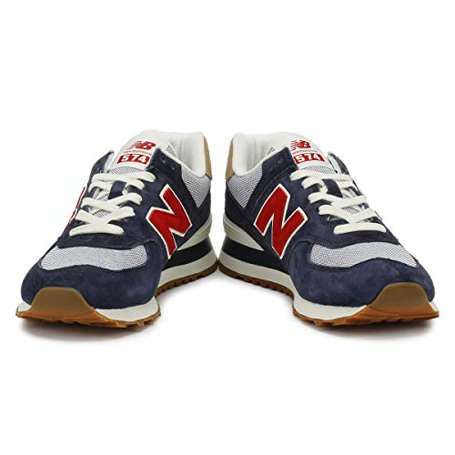 574v2 The Trainers rosso blu New Balance rosso blu scuro Blue Man wqCgRC