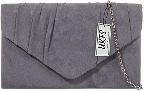 Velvet Charbon bois UKFS Envelope embrayage à Autumn Soirée sac main Ladies Designer de CtpRqR