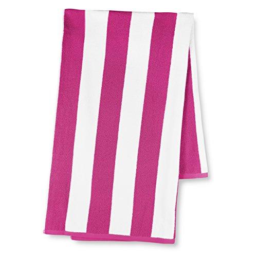 luxor-linens-30-inch-by-70-inch-egyptian-cotton-classic-cabbana-stripe-beach-towel-fuchsia