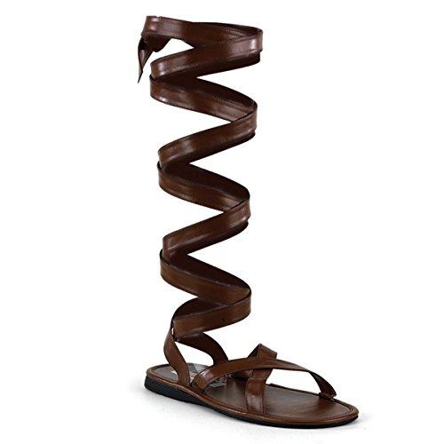Roman Sandal Men's - Small (8-9) (Halloween Roman Sandals)