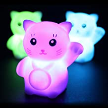Led Night Lights - Colorful Flash Lucky Cat Led Lamp Romantic Decoration Night Light - Lucky Cat Night Light Smoko Kawaii Lamp Nightlight Unicorn Narwhal Ambient - 1PCs