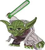 Star Wars Clone Yoda Light Saber Embroidered Iron On Patch SW41