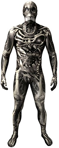 Skeleton Skin Suit (Morphsuits Men's Monster Skull and Bones Costume Skeleton,)