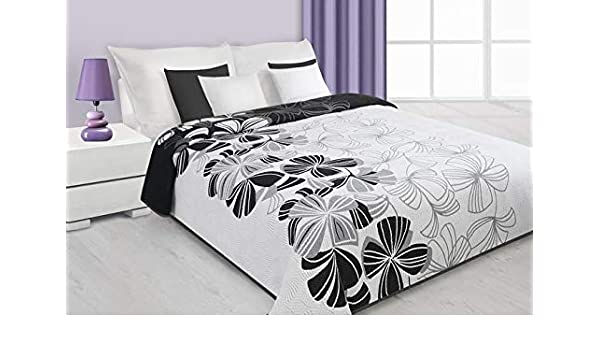 Eurofirany - Colcha (170 x 210 cm, algodón), diseño de flores ...