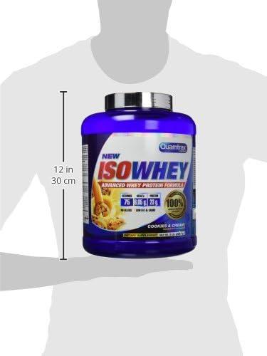 Quamtrax Proteina Iso whey sabor cookies & cream -2270 gr 75 servicios