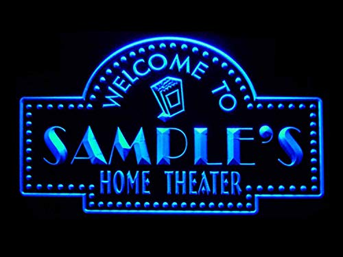 ADVPRO Name Personalized Custom Home Theater Bar Neon Sign Blue 16x12 inches st4s43-ph-tm-b