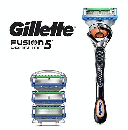 (Gillette Fusion5 Proglide Men's Razor Handle + 4 Blade)