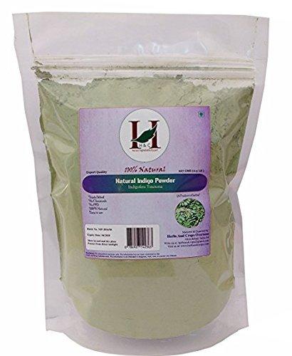 100% Natural Indigo Powder Organically Grown (227g / (1/2 lb) / 8 ounces) by H&C