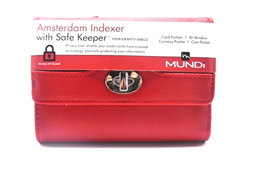 INDEXER Women's Faux Leather MUNDI WALLET Ladies RFID Protection One Size i875x (Leather Indexer Wallet)