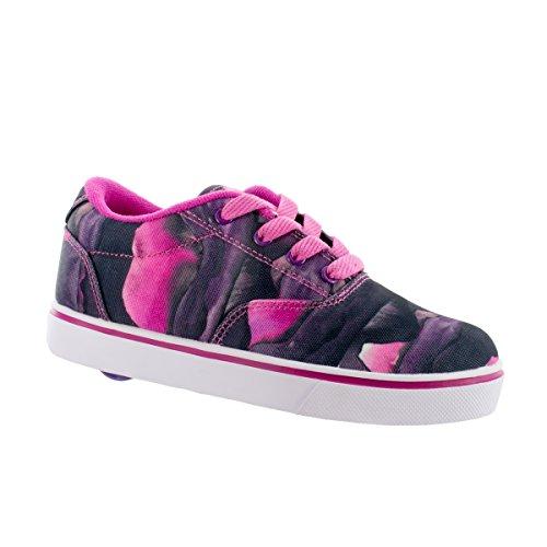 Heelys 770867H Youth Launch Skate Shoes, Purple/Berry/Print - 13 - Purple Skateboard Shoe