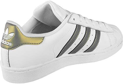 Scarpe Derby Uomo Bianco Adidas Stringate Superstar a8qwyA0p