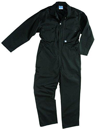Blue Castle 366/BK-44 44-Inch Zip Front Coverall Boilersuit - Black by Castle Clothing