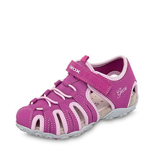 Jr Geox Niñas Cerrada Cp8e8 Sandal B Raspberry Para pink dk Rosa Punta Sandalias Roxanne Uw1qwd